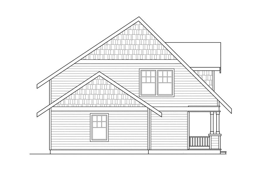 Home Plan Left Elevation of this 3-Bedroom,1600 Sq Ft Plan -108-1236