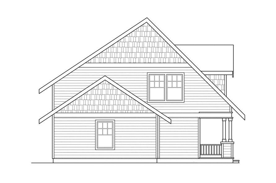 108-1236: Home Plan Left Elevation
