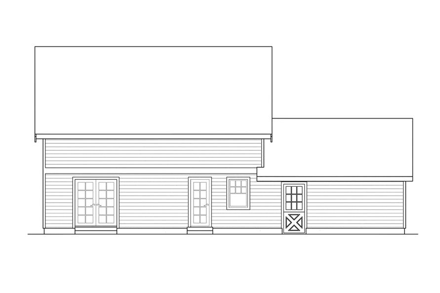 108-1236: Home Plan Rear Elevation