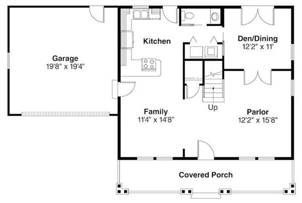 First Floor Floor Plan for Bailey