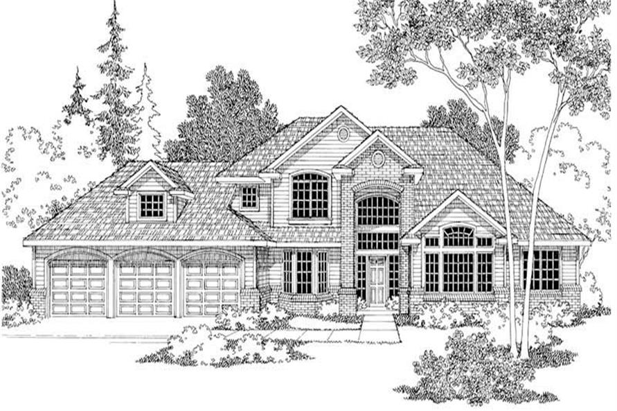 3-Bedroom, 2964 Sq Ft Traditional Home Plan - 108-1238 - Main Exterior