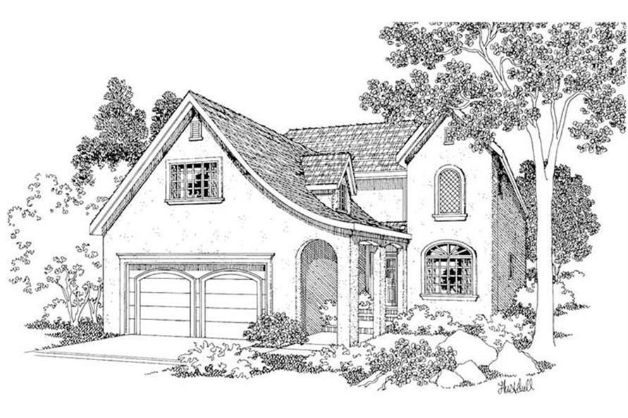 Home Plan Rendering of this 4-Bedroom,2192 Sq Ft Plan -2192