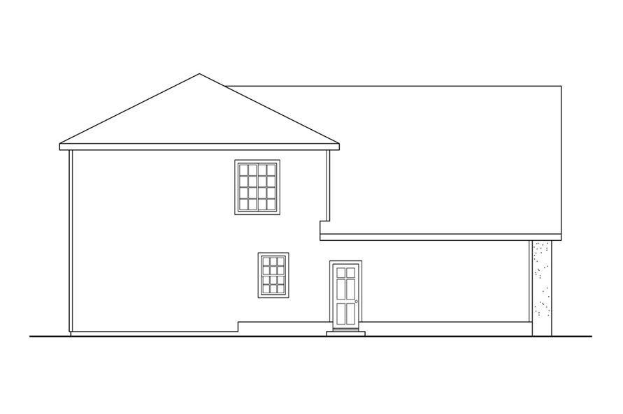 108-1239: Home Plan Left Elevation