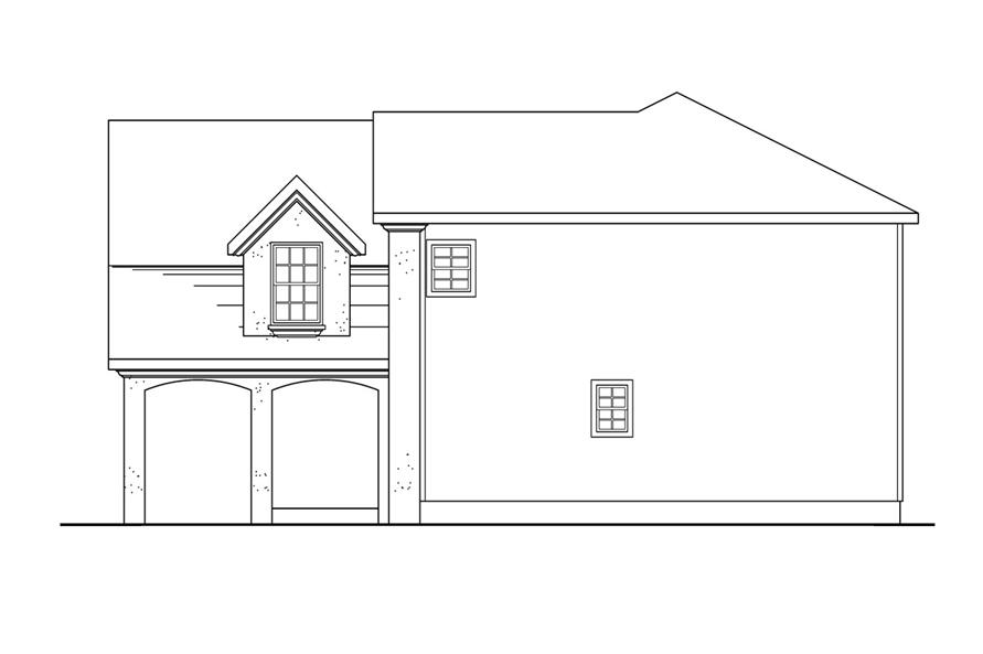 Home Plan Right Elevation of this 4-Bedroom,2192 Sq Ft Plan -108-1239