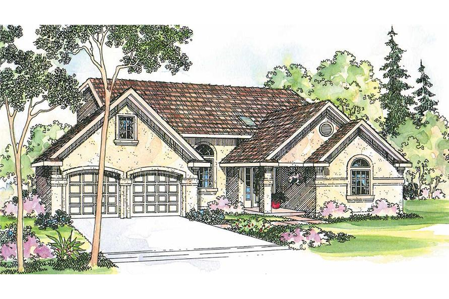 3-Bedroom, 1750 Sq Ft Florida Style Home Plan - 108-1241 - Main Exterior