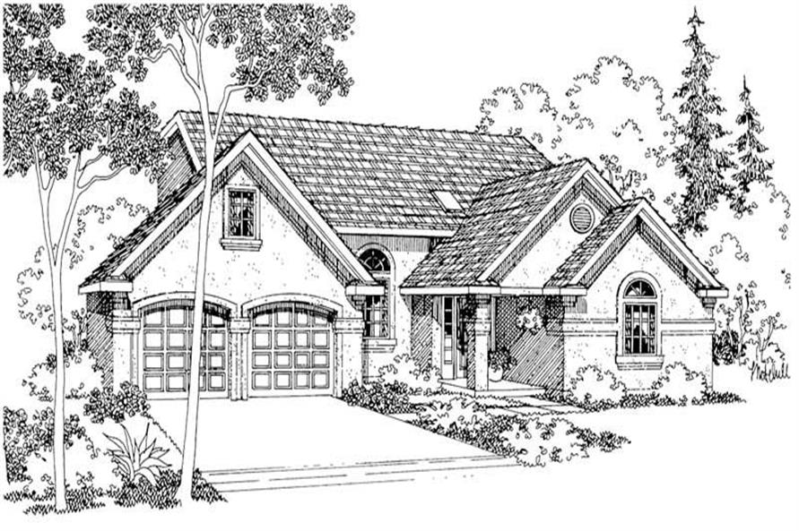 Home Plan Rendering of this 3-Bedroom,1750 Sq Ft Plan -1750
