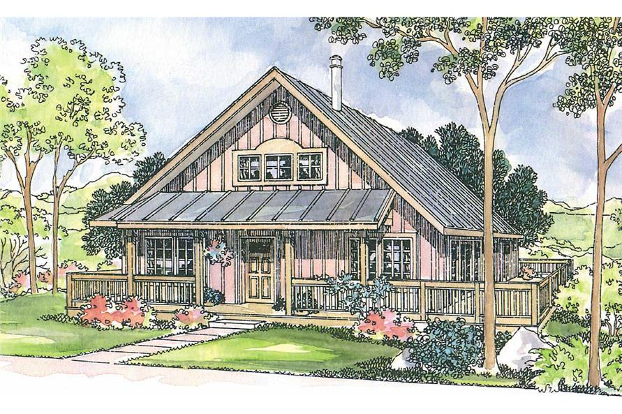 3-Bedroom, 1305 Sq Ft Coastal Home Plan - 108-1242 - Main Exterior