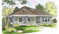 This image shows the Cottage Style of this set of house plans.