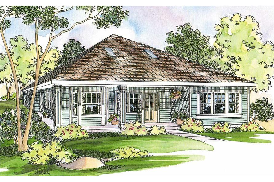 2-Bedroom, 1686 Sq Ft Contemporary Home Plan - 108-1244 - Main Exterior