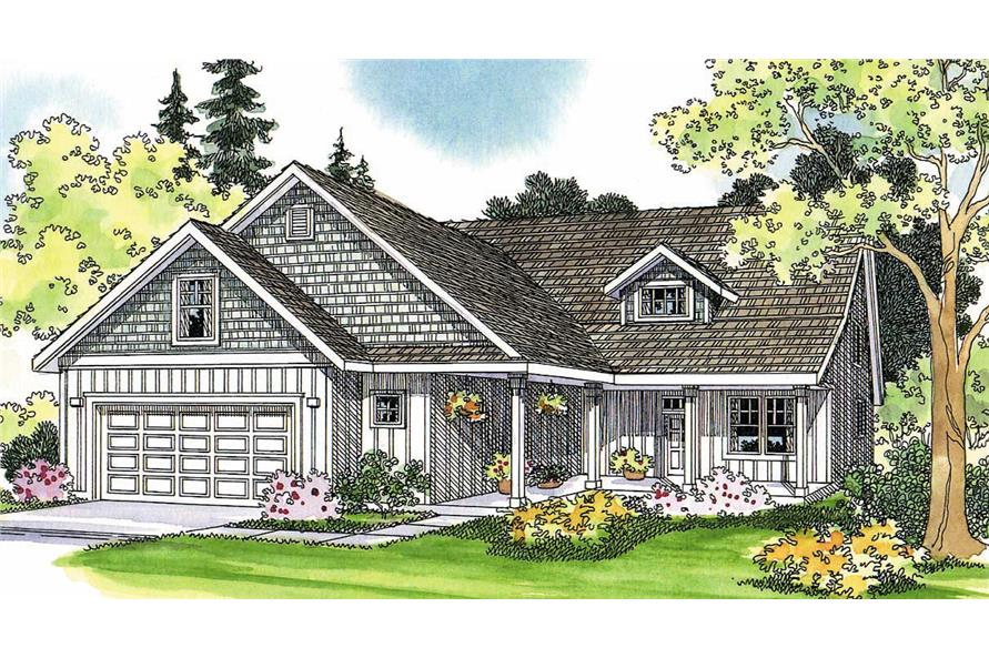5-Bedroom, 2601 Sq Ft Country Home Plan - 108-1245 - Main Exterior