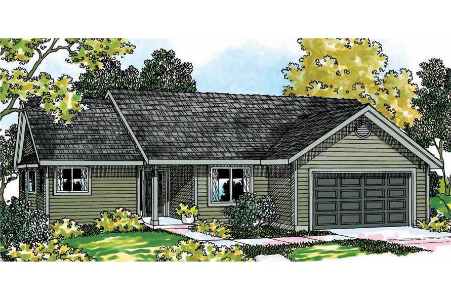 3-Bedroom, 1472 Sq Ft Small House Plans - 108-1249 - Main Exterior