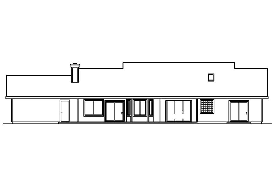 Home Plan Rear Elevation of this 4-Bedroom,2083 Sq Ft Plan -108-1250