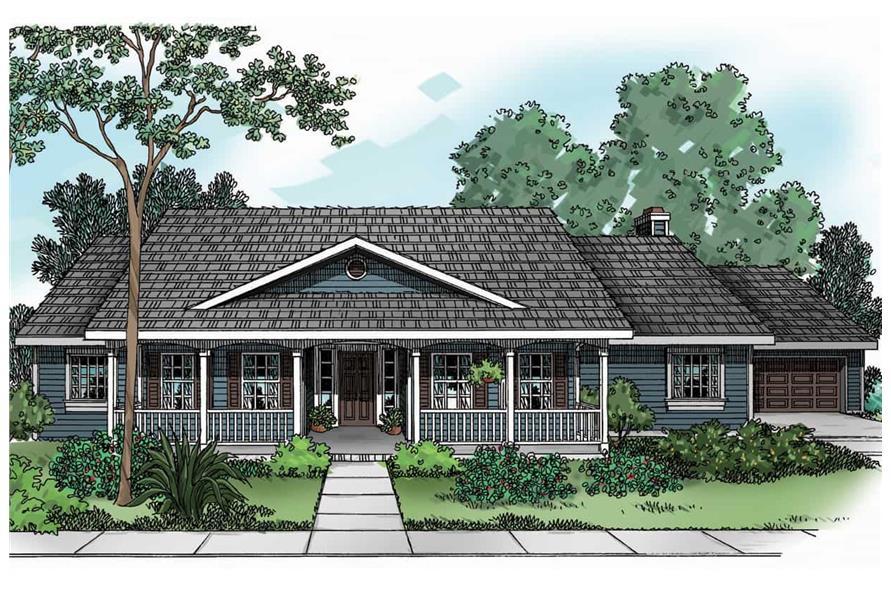 Home Plan Rendering of this 3-Bedroom,2083 Sq Ft Plan -2083