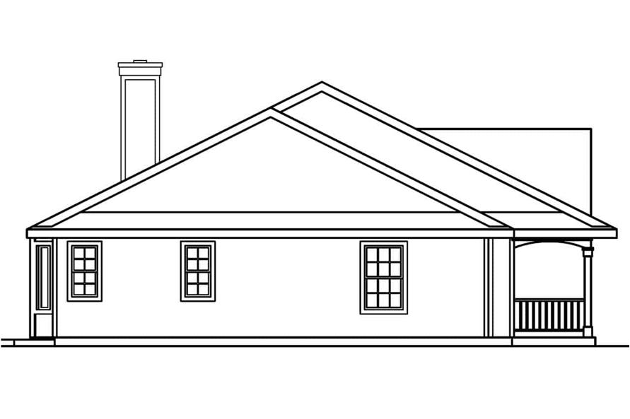 Home Plan Left Elevation of this 3-Bedroom,2083 Sq Ft Plan -108-1250