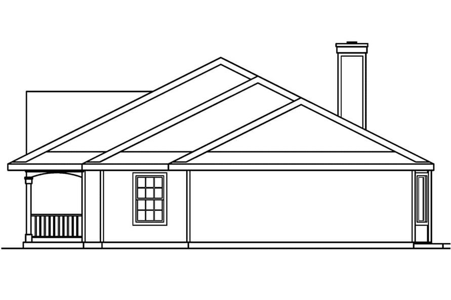 Home Plan Right Elevation of this 3-Bedroom,2083 Sq Ft Plan -108-1250