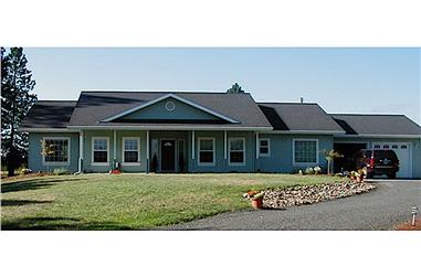 3-Bedroom, 2083 Sq Ft Ranch House - Plan #108-1250 - Front Exterior