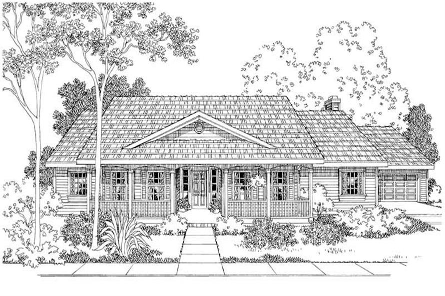 4-Bedroom, 2083 Sq Ft Colonial Home Plan - 108-1250 - Main Exterior
