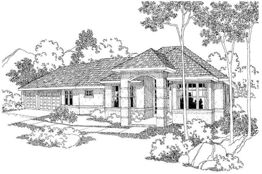 3-Bedroom, 2149 Sq Ft Contemporary Home Plan - 108-1251 - Main Exterior