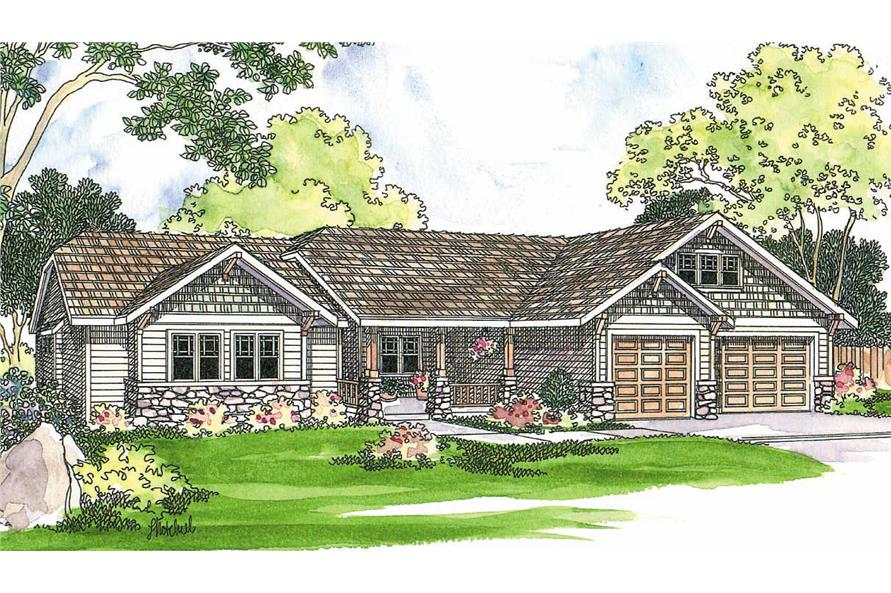 4-Bedroom, 2481 Sq Ft Country Home Plan - 108-1252 - Main Exterior