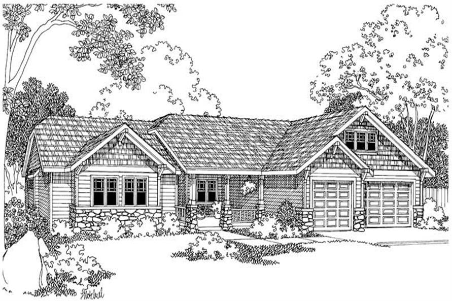 Home Plan Rendering of this 4-Bedroom,2481 Sq Ft Plan -2481