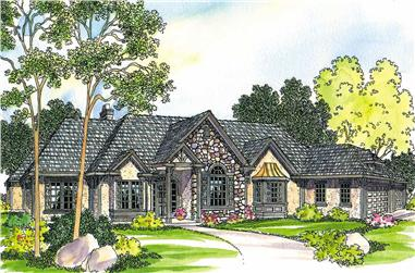 3-Bedroom, 2927 Sq Ft European Home Plan - 108-1253 - Main Exterior