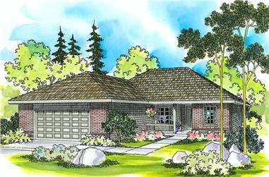 3-Bedroom, 1396 Sq Ft Small House Plans - 108-1254 - Main Exterior