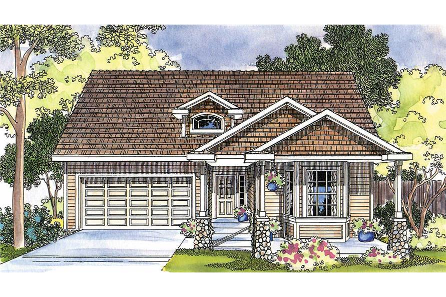 3-Bedroom, 1822 Sq Ft Country Home Plan - 108-1257 - Main Exterior