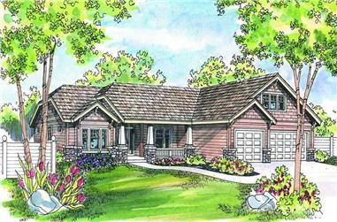 4-Bedroom, 2759 Sq Ft Craftsman Home Plan - 108-1259 - Main Exterior