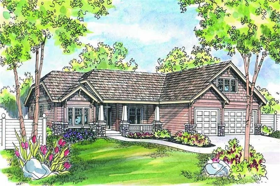 4-Bedroom, 2759 Sq Ft Craftsman Home Plan - 108-1259 - Main Exterior