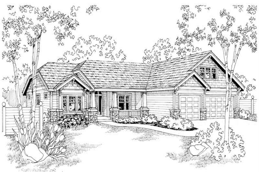 Grayson Main Elevation of this 4-Bedroom,2759 Sq Ft Plan -2759