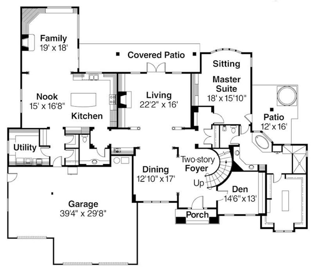 First Floor Floor Plan for ADI30-306 Avalon