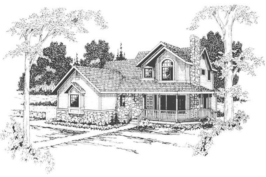 4-Bedroom, 2646 Sq Ft Country Home Plan - 108-1261 - Main Exterior