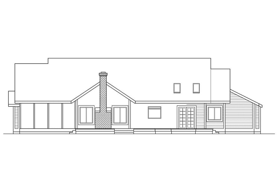 Home Plan Rear Elevation of this 4-Bedroom,2299 Sq Ft Plan -108-1262