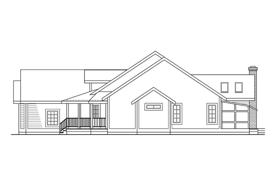 Home Plan Right Elevation of this 4-Bedroom,2299 Sq Ft Plan -108-1262