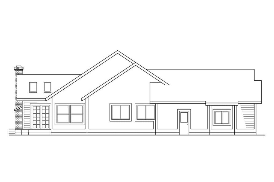 Home Plan Left Elevation of this 4-Bedroom,2299 Sq Ft Plan -108-1262