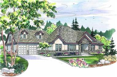 5-Bedroom, 4159 Sq Ft European Home Plan - 108-1264 - Main Exterior