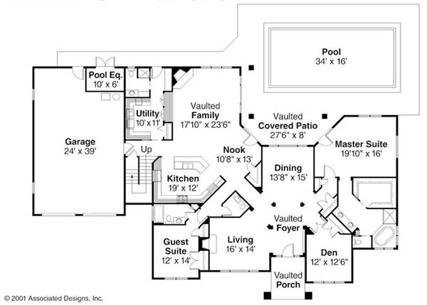 First Floor Floor Plan for Meridian