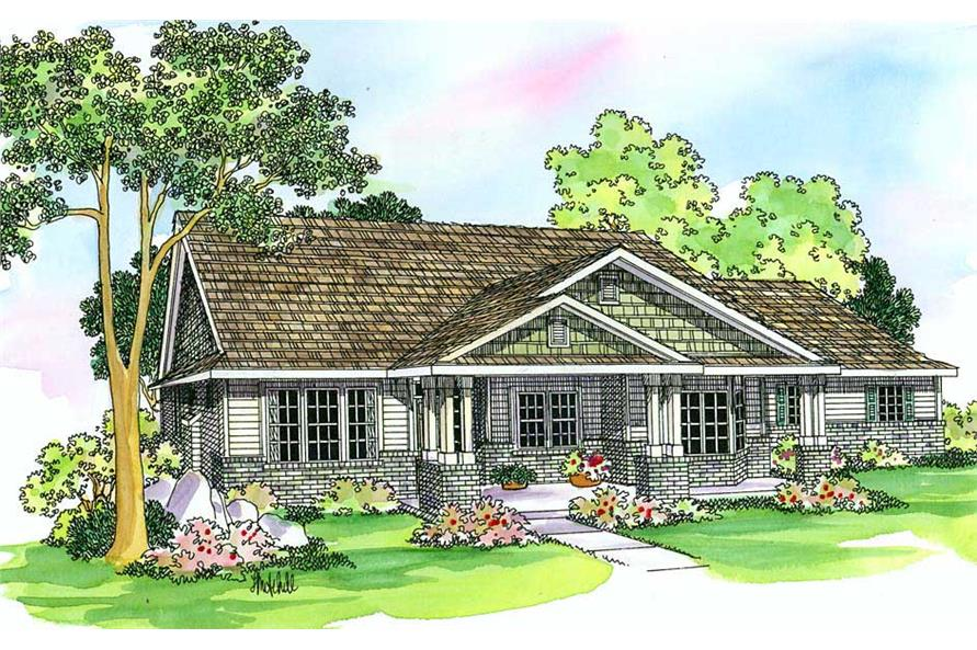 4-Bedroom, 2591 Sq Ft Country Home Plan - 108-1266 - Main Exterior