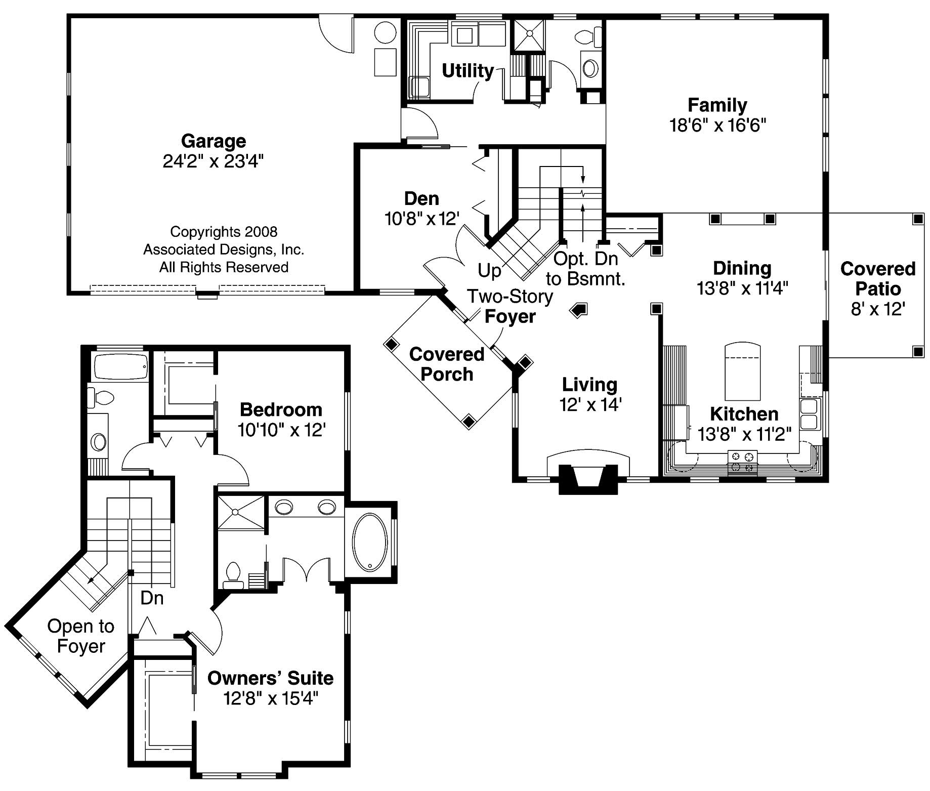 Craftsman home with 3 bdrms 2120 sq ft house plan 108 1267 for Continental homes of texas floor plans