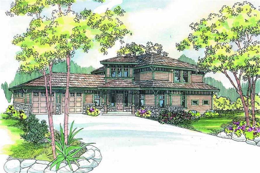 3-Bedroom, 2120 Sq Ft Craftsman Home Plan - 108-1267 - Main Exterior