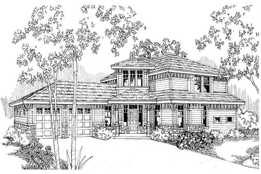 Bowman Main Elevation of this 3-Bedroom,2120 Sq Ft Plan -2120