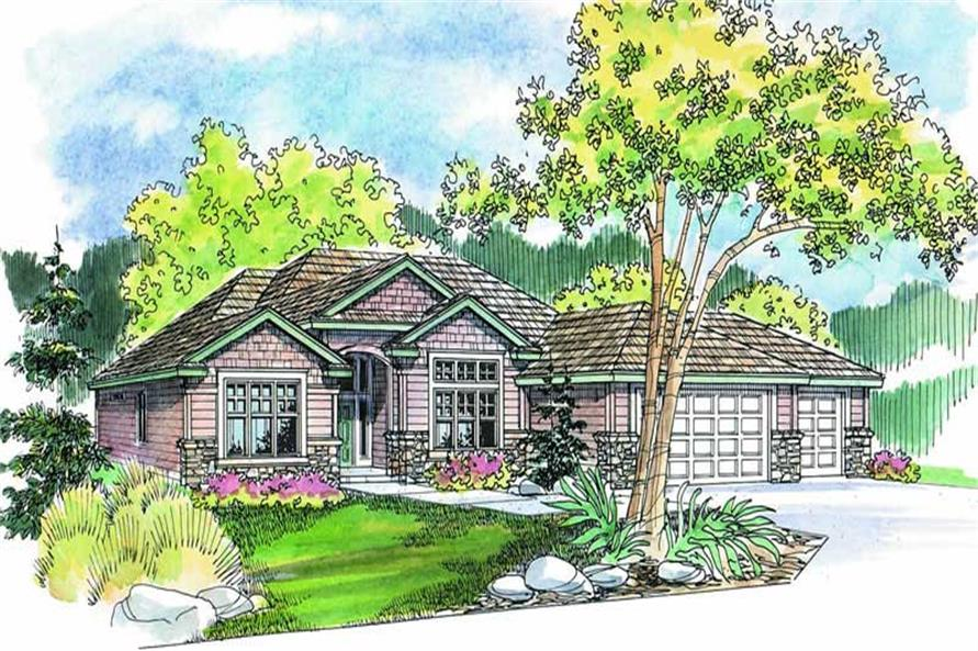 4-Bedroom, 2326 Sq Ft Ranch Home Plan - 108-1269 - Main Exterior