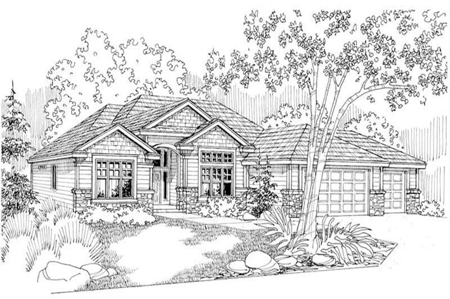 Clearfield Main Elevation of this 4-Bedroom,2326 Sq Ft Plan -2326
