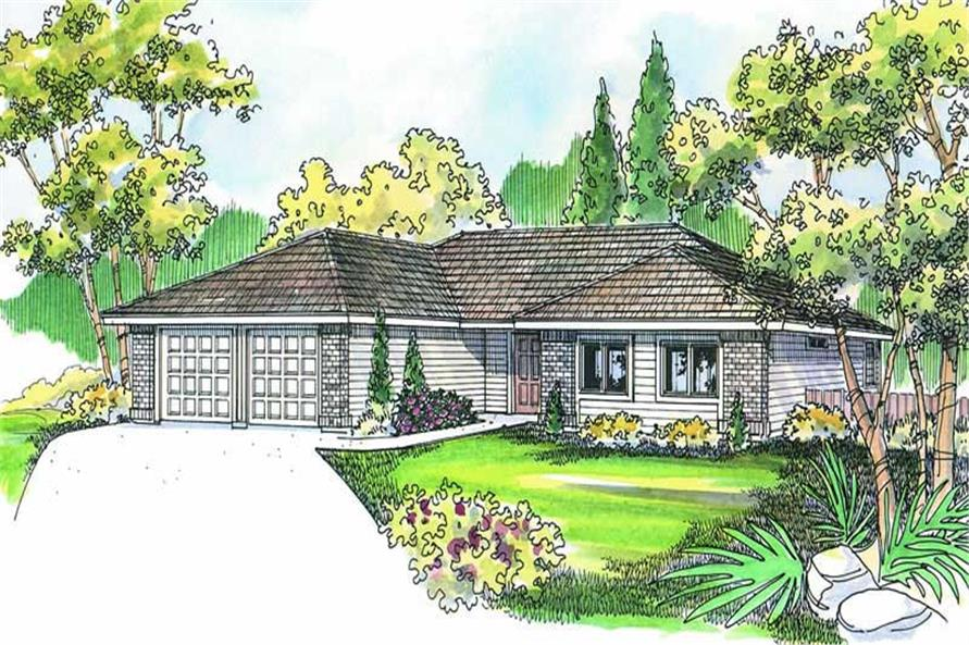3-Bedroom, 1719 Sq Ft Ranch Home Plan - 108-1270 - Main Exterior