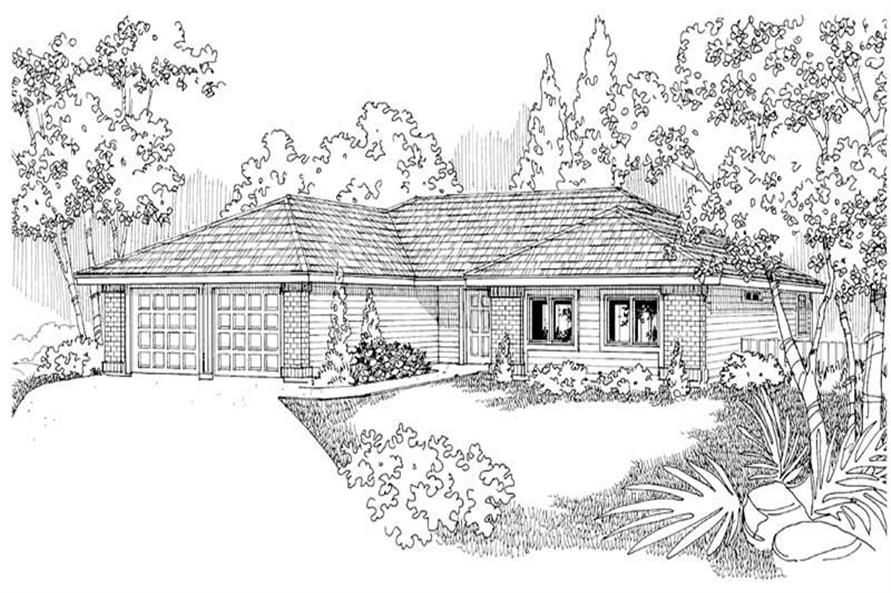 Paxton Main Elevation of this 3-Bedroom,1719 Sq Ft Plan -1719