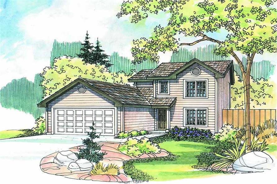 4-Bedroom, 1419 Sq Ft Country Home Plan - 108-1271 - Main Exterior