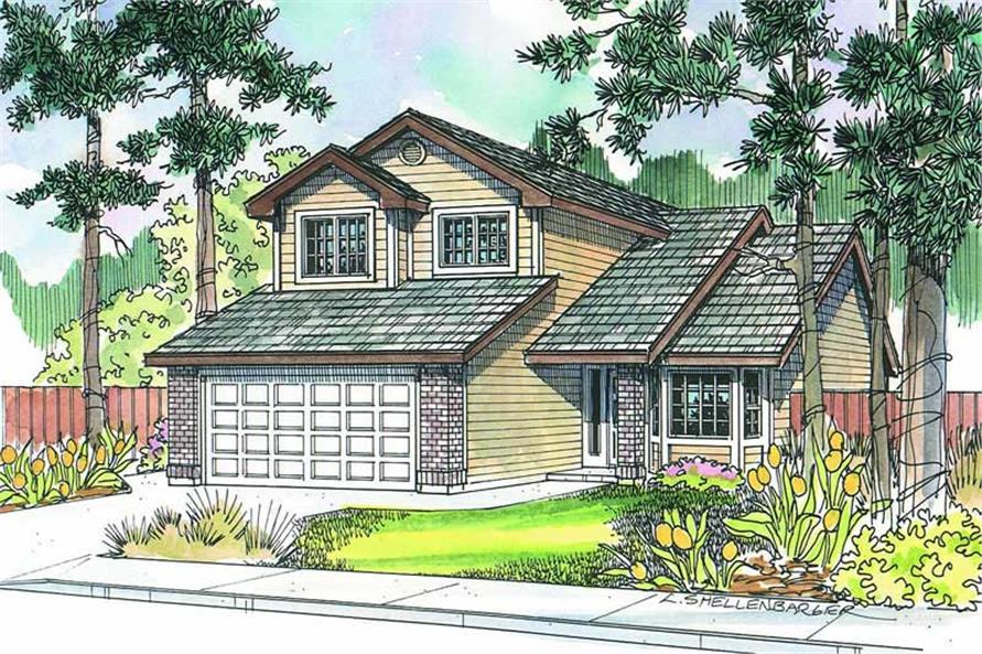 3-Bedroom, 1528 Sq Ft Small House Plans - 108-1272 - Main Exterior