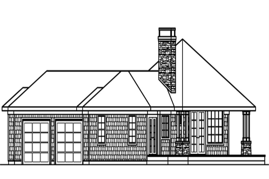 Home Plan Left Elevation of this 3-Bedroom,2191 Sq Ft Plan -108-1273
