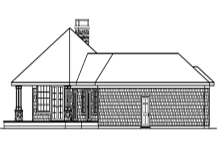 Home Plan Right Elevation of this 3-Bedroom,2191 Sq Ft Plan -108-1273