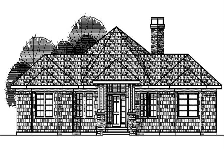 Home Plan Front Elevation of this 3-Bedroom,2191 Sq Ft Plan -108-1273